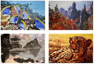 asia-malerei, asiatische bilder, malerei, kunstbilder